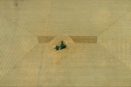 Erntemuster in der Pampa, Argentinien, 1967, Copyright Georg Gerster