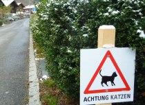 Katzenschild in Kandersteg