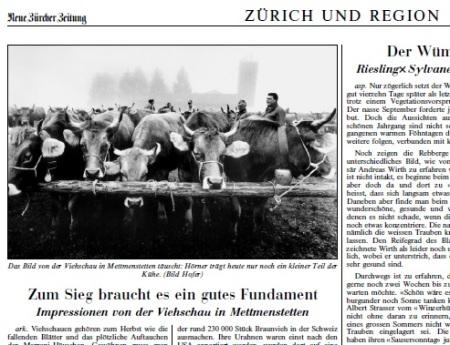 Viehschau Mettmenstetten