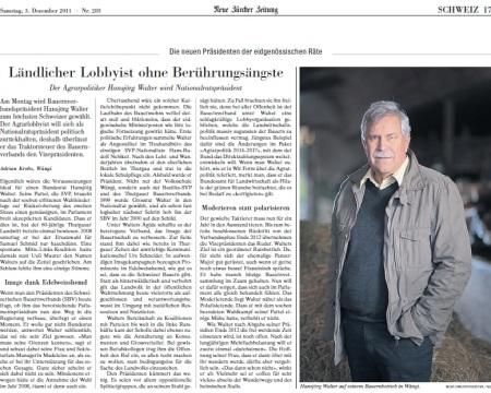 Porträt Hansjörg Walter