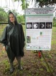 Forscherin Wiebke Niether im Regen