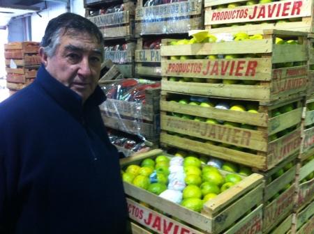Zitronenhändler auf dem Engros-Markt von Mar del Plata