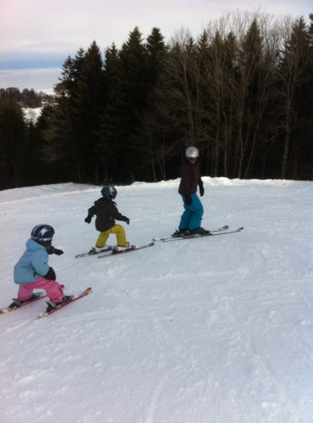 Toddlers on Ski